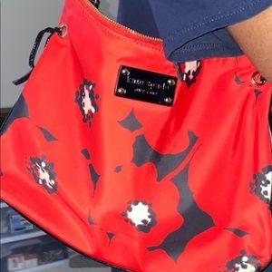 Kate spade ♠️ red black patent leather trim